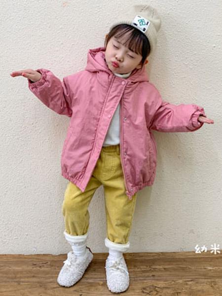 幼米童装品牌2020秋冬女童粉色加棉外套