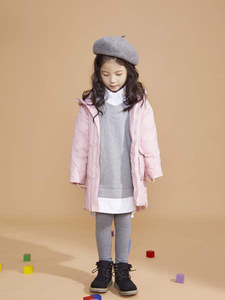 宝贝传奇童装品牌2020冬季女童粉色轻薄款棉外套