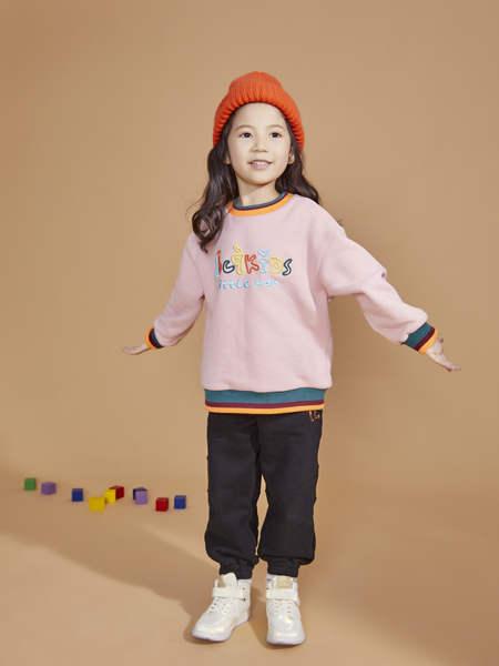 宝贝传奇童装品牌2020冬季女童粉色字母印花卫衣