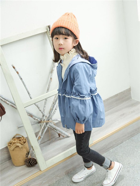 优卡蓝猫童装品牌2020秋冬蓝色舒适薄外套