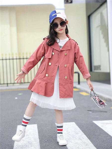 优卡蓝猫童装品牌2020秋冬红色休闲薄外套