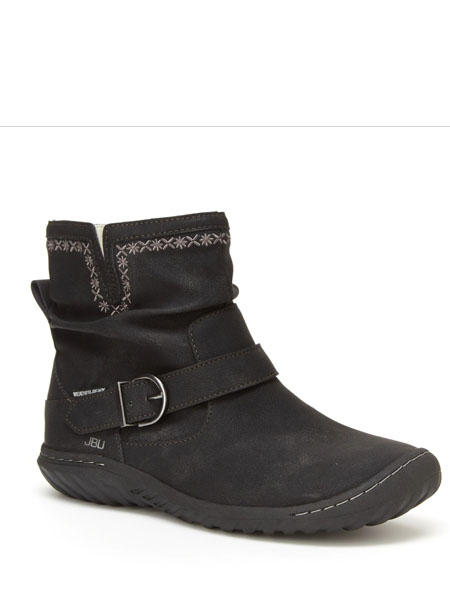 jambu童鞋品牌2020秋冬印花黑色皮带越野鞋