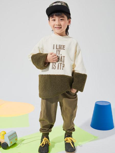 NNE&KIKI童装品牌2020秋冬毛呢白色圆领上衣