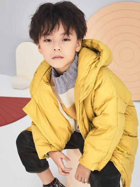 NNE&KIKI童装品牌2020秋冬棕色带帽棉衣