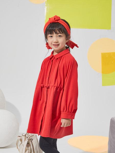 NNE&KIKI童装品牌2020秋冬立领红色开衫上衣