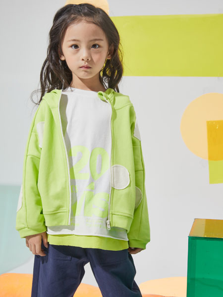 NNE&KIKI童装品牌2020秋冬青色可爱外套