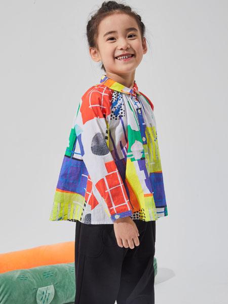 NNE&KIKI童装品牌2020秋冬多彩拼接开衫上衣