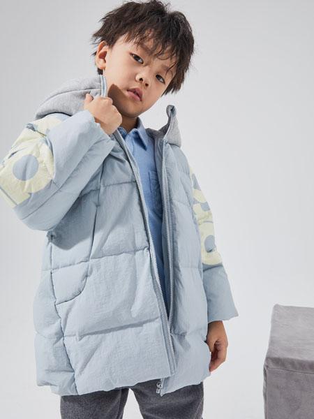 NNE&KIKI童装品牌2020秋冬白色加绒羽绒服