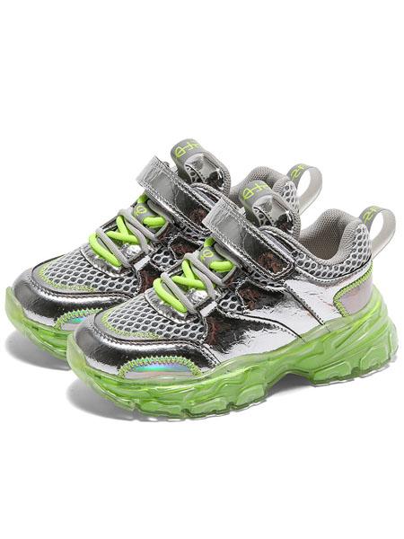 森林大王童鞋品牌2020秋冬透气荧光绿色运动鞋