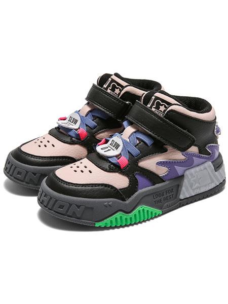 森林大王童鞋品牌2020秋冬白色拼接个性跑步鞋