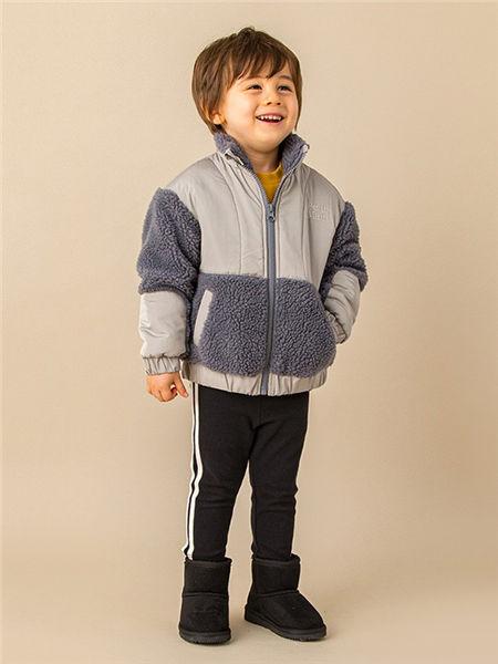 品萌儿童童装品牌2020秋冬灰色个性毛呢外套