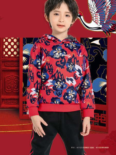 德蒙斯特童装品牌2021秋冬中国风加绒卫衣