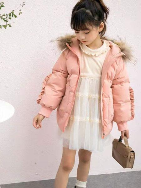 美的宝宝童装品牌2020冬季粉色可爱修身外套