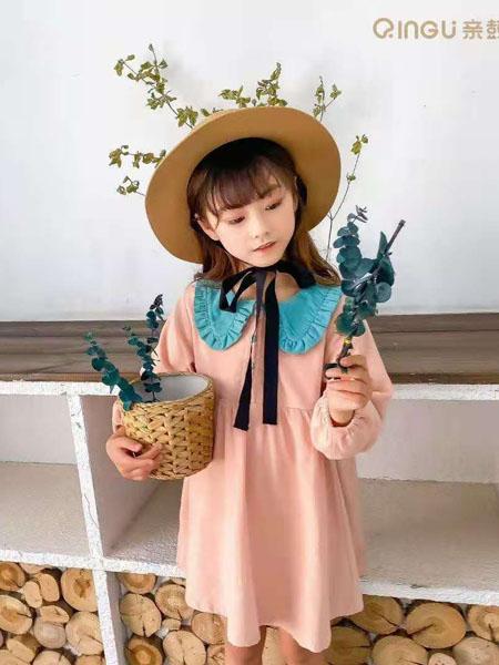 美的宝宝童装品牌2020冬季粉色公主风纯棉连衣裙