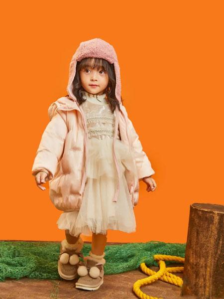 羽成扉童装品牌2020冬季粉色甜美公主风外套