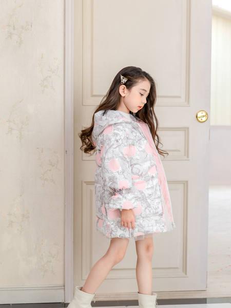 卡儿菲特童装品牌2020冬季清新甜美风羽绒服外套