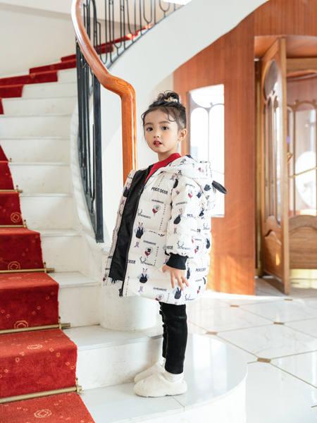卡儿菲特童装品牌2020冬季潮流趣味羽绒服外套