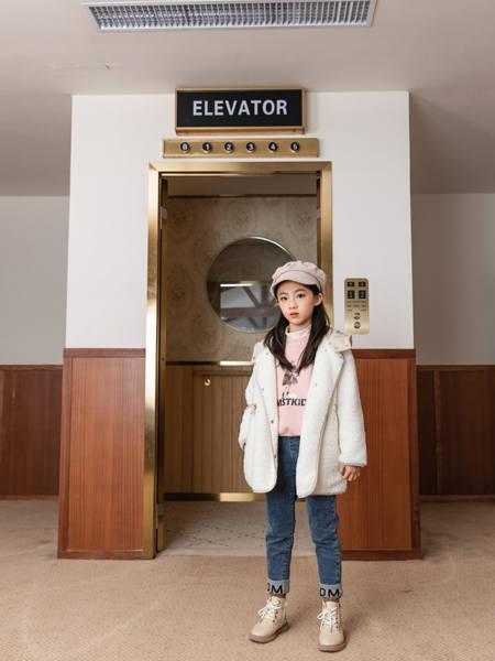卡儿菲特童装品牌2020冬季韩版长袖羽绒服中长款外套