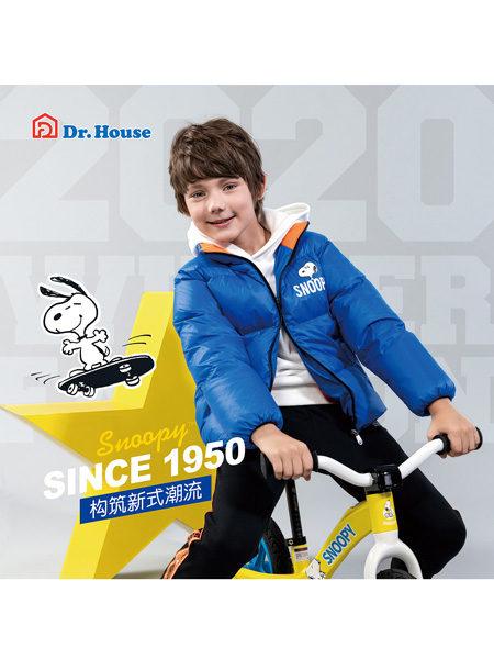 博仕屋DR.HOUSE���H童品集成店童�b品牌史努比2020冬季�{色潮童�O��L羽�q�A克