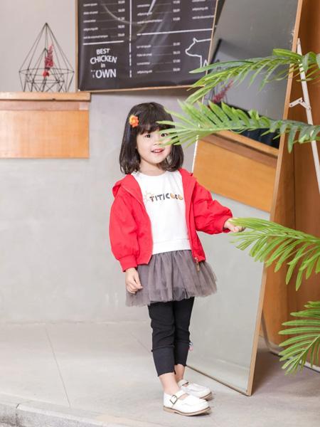 缝纫机小队长童装品牌2020冬季红色朝气活力外套