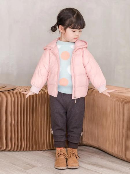缝纫机小队长童装品牌2020冬季粉色甜美名媛风短羽绒外套