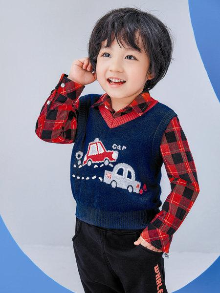 海威迩童装品牌2020冬季韩版学院风潮童针织马甲
