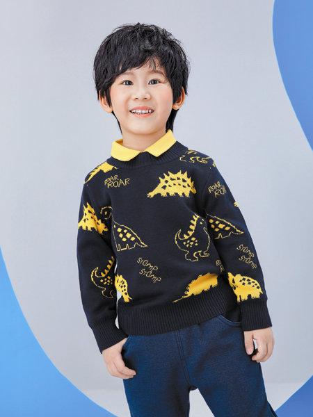 海威�童�b品牌2020冬季趣味��性童趣色���衫