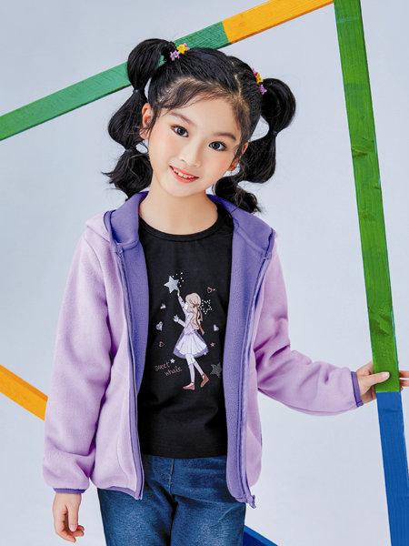 海威�童�b品牌2020冬季紫色�厝崾缗��L外套