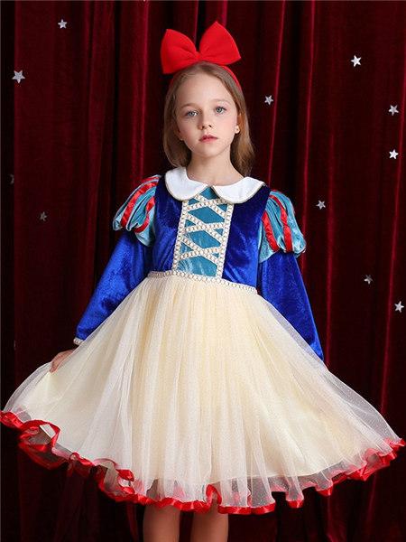 Disney/MarkandSpencer/永丽公主童装品牌2020冬季宫廷风优雅连衣裙