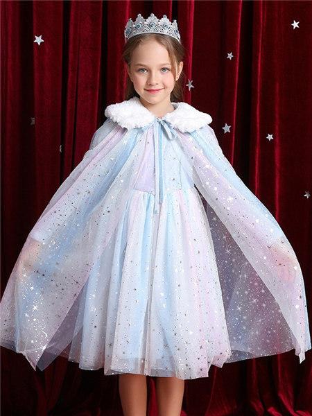 Disney/MarkandSpencer/永丽公主童装品牌2020冬季彩色欧根纱渐变百搭披风
