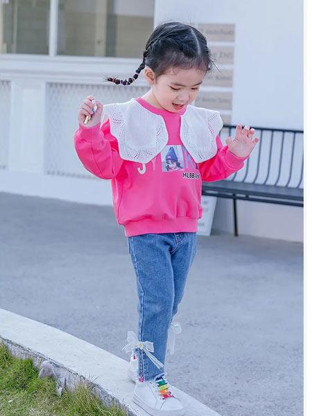 早言童装品牌2021春夏蕾丝可爱圆领衫