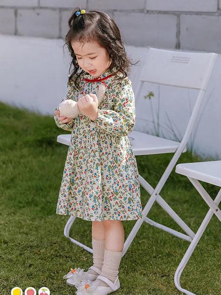 早言童装品牌2021春夏 小碎花连衣裙