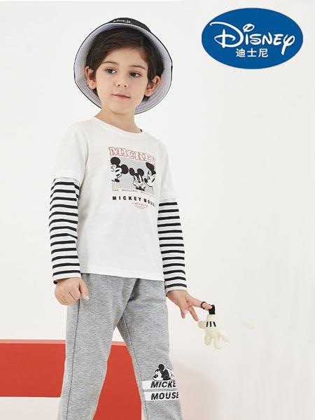 迪士尼Disney童装品牌2021春夏新品假两件纯棉T恤
