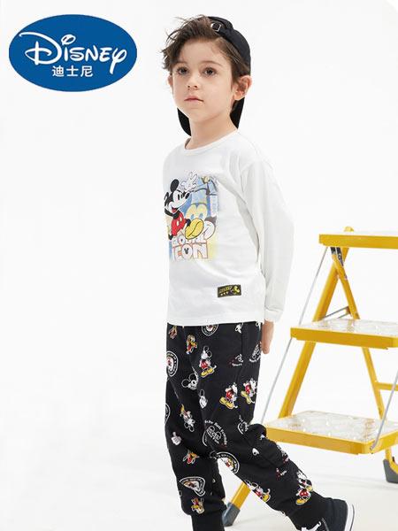 迪士尼Disney童装品牌2021春夏新品长袖纯棉潮童T恤