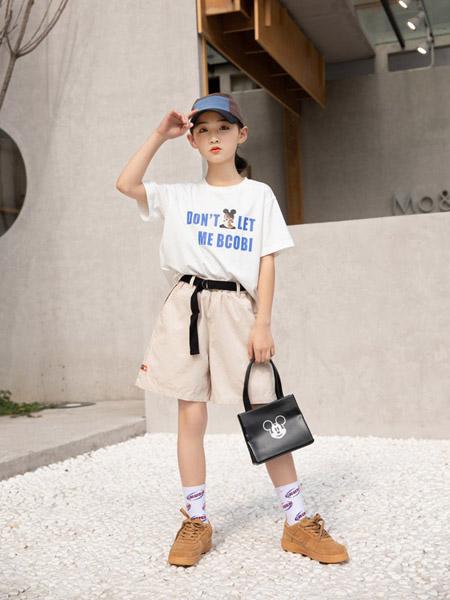 猫咪精灵童装品牌2021春夏白色T恤