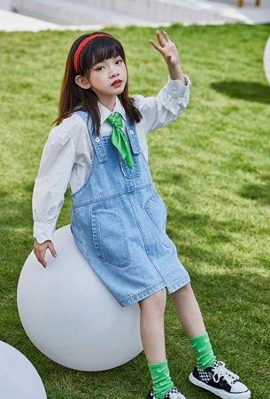 洛小米童装品牌2021春夏牛仔短裤