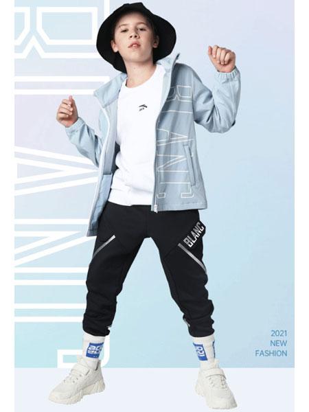 安踏儿童童装品牌2021春夏长袖休闲外套