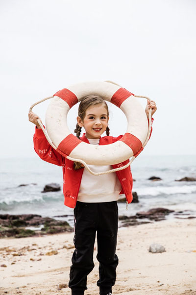 JOJOBO啾比乐童装品牌2021春夏红色棒球服