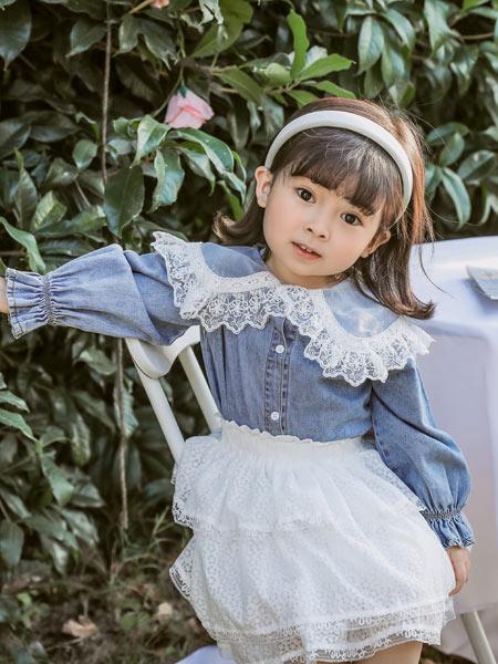 boabo.宝儿宝童装品牌2021春夏森系欧根纱短款
