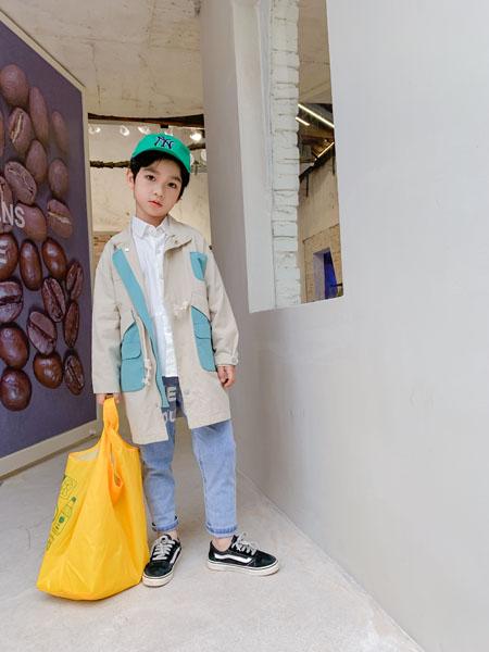 蒂萨纳D`sana童装品牌2021春夏混色风衣