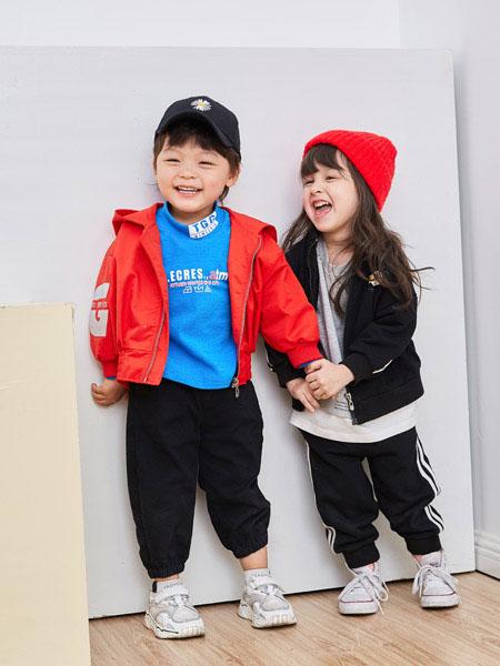田果果童装品牌2021春夏带帽拉链式外套