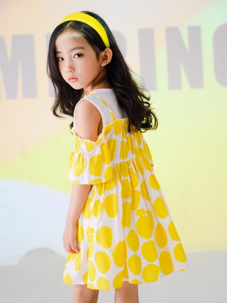 西瓜王子童装品牌2021春夏露肩裙