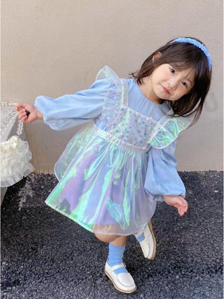 哈沐童装品牌2021春夏H蓬裙型多彩