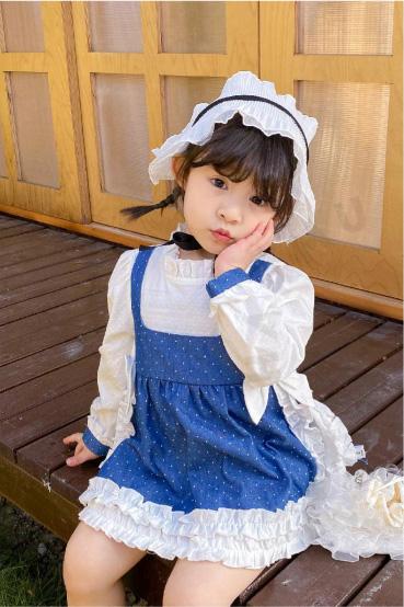 哈沐童装品牌2021春夏甜美雪纺裙