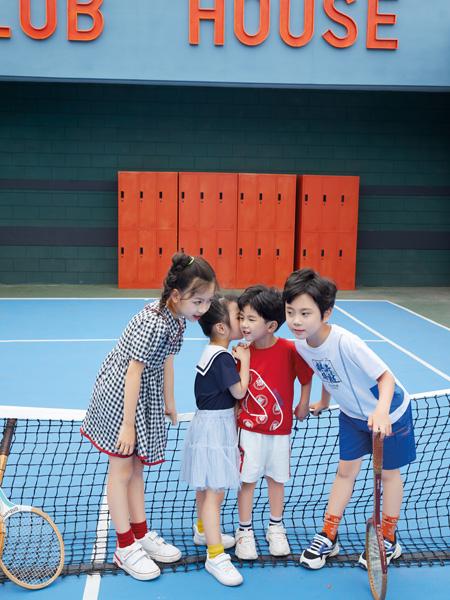 巴迪小虎BaDi Tiger童装品牌2021春夏棉麻韩版运动套装