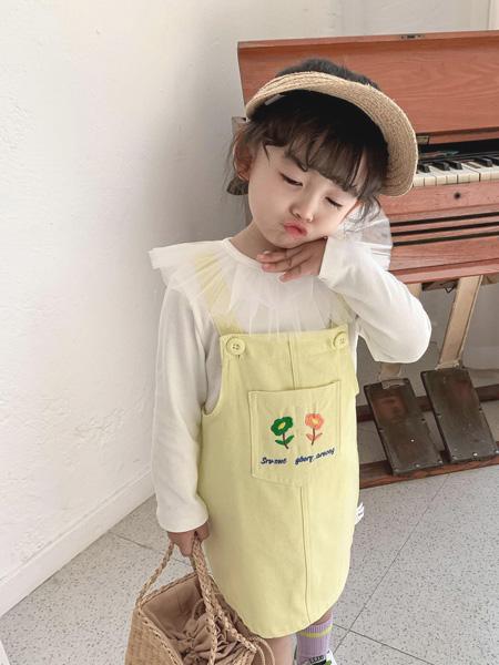 宾果童话童装品牌2021春夏口袋吊带裙