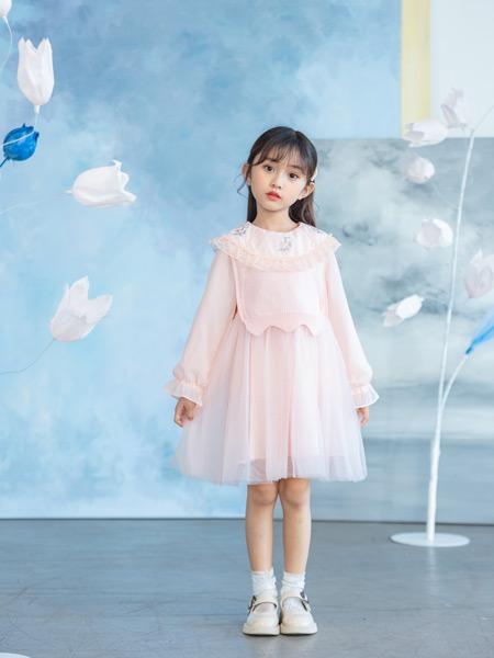 德蒙斯特童装品牌2021春夏粉色公主裙
