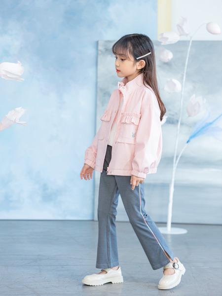 德蒙斯特童装品牌2021春夏粉色立领外套