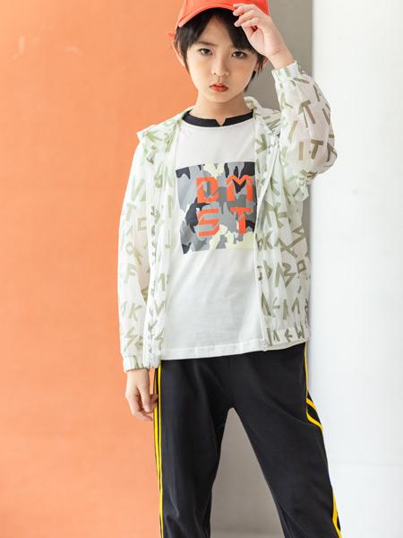 德蒙斯特童装品牌2021春夏印花字母外套