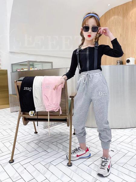 123童装童装品牌2021春夏黑色时尚上衣